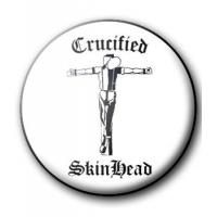 BADGE CRUCIFIED SKINHEAD