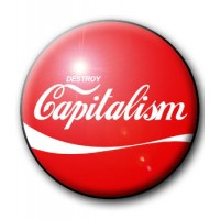 BADGE DESTROY CAPITALISM