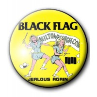 BADGE BLACK FLAG - JEALOUS AGAIN