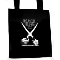 TOTE BAG BLACK FLAG - EVERYTHING WENT BLACK