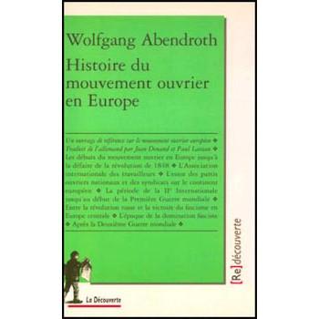 LIVRE HISTOIRE DU MOUVEMENT OUVRIER EN EUROPE
