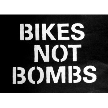 PATCH BIKES NOT BOMBS