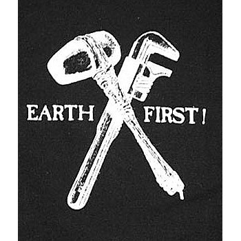 PATCH EARTH FIRST (NOIR)