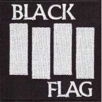 BLACK FLAG PATCH BRODÉ