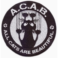 ALL CATS ARE BEAUTIFUL - PATCH BRODÉ