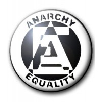 BADGE ANARCHY EQUALITY