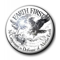BADGE EARTH FIRST - NO COMPROMISE