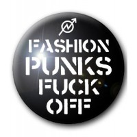 BADGE FASHION PUNKS FUCK OFF