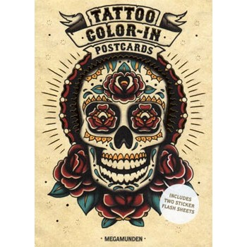 CARTES POSTALES TATTOO COLOR-IN Megamunden