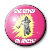 BADGE SHE-DEVILS ON WHEELS